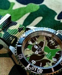 A BATHING APE ABC NATO BELT TYPE 1 BAPEX Green Mens Watch BAPE from JAPAN F/S