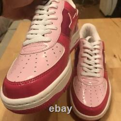 A BATHING APE Bapesta Sneaker Shoes Low Pink US9.5 Used from Japan F/S