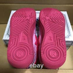 A BATHING APE Bapesta Sneaker Shoes Pink Enamel US6.5 Used from Japan F/S