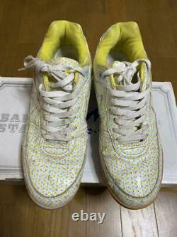 A BATHING APE Bapesta Sneaker Shoes White x Pink US9.5 Used from Japan F/S