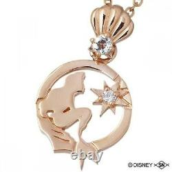 Ariel The Little Mermaid Silver925 necklace Disney PINK GOLD Color from Japan