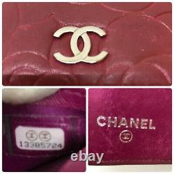 Auth Chanel Camelia type push lambskin 13385724 from Japan gf068