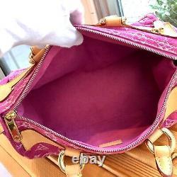 Auth LOUIS VUITTON Neo Speedy Hand Bag Monogram Denim M95214 Vintage From Japan