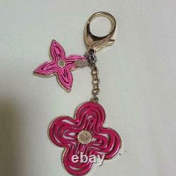 Auth Louis Vuitton Resin Naif Bag Charm Keyring Pink Used from Japan F/S