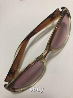 Auth Vintage CHANEL CC Logo Sunglasses Pink Brown Women Used from Japan F/S