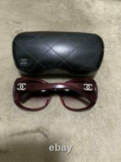 Authentic CHANEL CC Logo Sunglasses Pink Women withCase Used from Japan F/S