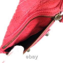 BALENCIAGA Classic Mini City 300295 pink leather Women's handbag from Japan