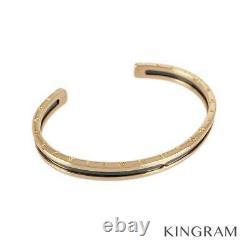 BVLGARI 18K Pink Gold(750) Stainless Steel SM B-zero1 Bangle Bracelet from Japan