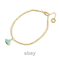 BVLGARI Diva Dream 18K Pink Gold (750) Turquoise SM 6.1 Bracelet from Japan
