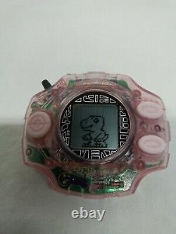 Bandai Digimon Adventure Digivice 2 Clear Pink Color HIKARI 1999 From Japan USED