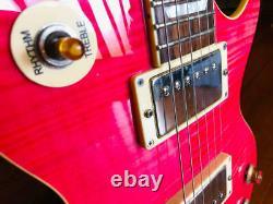 Burny Les Paul Type Electric Guitar Pink ship from japan 0906