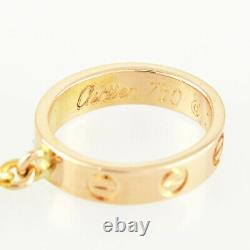 CARTIER Baby love 18K Pink Gold(750) Mini old model cleaned Necklace from Japan