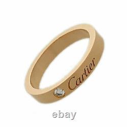 CARTIER C de Cartier 18K Pink Gold 750 Diamond cleaned ring from Japan