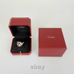 CARTIER Delice K18WG Diamond Rose Quartz Ruby Tourmaline Garnet Beryl from Japan