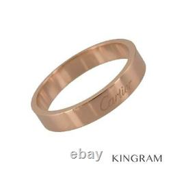 CARTIER Engraved 18K Pink Gold(750) (61) Cleaned ring from Japan