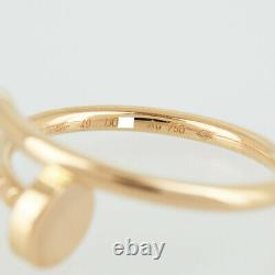 CARTIER Just Uncle 18K Pink Gold(750) No. 5 # 49 Cleaned ring from Japan