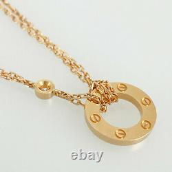 CARTIER Love circle 18K Pink Gold (750) Diamond 2PD Necklace from Japan