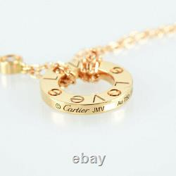CARTIER Love circle 18K Pink Gold (750) Diamond Necklace from Japan