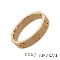 CARTIER Mini love 18K Pink Gold (750) Cleaned ring from Japan