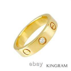 CARTIER Mini love 18K Pink Gold (750) Diamond 1P No. 9 (49) ring from Japan