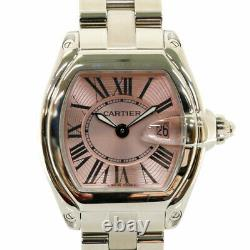 CARTIER Watches Silver pink Stainless Steel Roadster SM from japan used