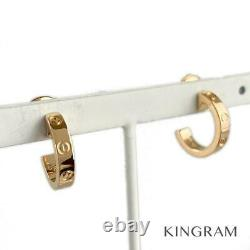 CARTIER love 18K Pink Gold (750) Baby love cleaned earring from Japan