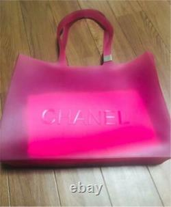 CHANEL Lava Tote Bag Pink from Japan Used D322