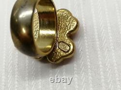 CHANEL Ring CLOVER Size 53 Pink Color Accessory for Woman from Japan Used