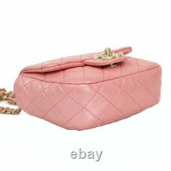 CHANEL Shoulder Bag Cross Body pink ChainShoulder from japan
