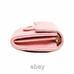 CHANEL lambskin Matrasse Mini chain Shoulder Bag pink from japan