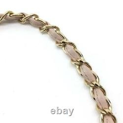 Chanel Chain Shoulder Suits Jacket Bag Pink Black Rare Used from Japan