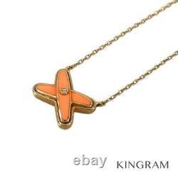 Chaumet 18K Pink Gold(750) Ju de Lian 1P Diamond Orange Necklace from Japan