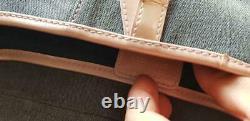 Christian Dior Saddle Shoulder Bag Denim Pink CD Logo Leather Women's From Japan