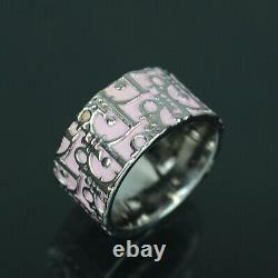 Christian Dior Trotter Ring Pink US Size 7.5 #51784 free shipping from Japan