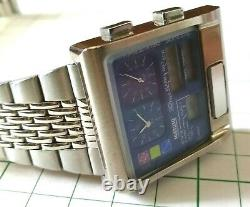 Citizen Digi Ana Temp Large Case 1481010 Rare Blue Dial from Japan Free Shipping