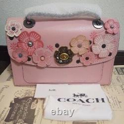Coach Parker With Tea Rose Applique Pink Japan Limited Edition from JAPAN F/S