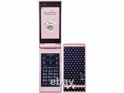 Docomo Fujitsu F-06D Style Series Pink Unlocked Flip Phone Good from Japan