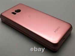 Docomo SHARP SH-01J Pink Aquos KEITAI 2 ANDROID FLIP PHONE From JAPAN