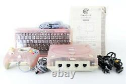 Dreamcast SEGA DC Hello Kitty Pink Console From JAPAN with Controller Keyboard