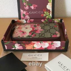 GUCCI GG Blooms Card Case Coin Purse case Zippy Wallet Floral Pink From Japan