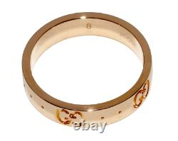 GUCCI Ring Pink Rose gold K18PG ICON Size US4.5 from japan NO case Near MINT++