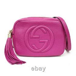 GUCCI Shoulder Bag Cross Body pink Soho Disco bag from japan