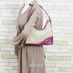 GUCCI Shoulder Bag beige pink from japan