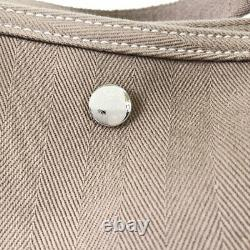 HERMES Valparaiso MM L Made in 2008 Etope Towal chevron Tote Bag from Japan