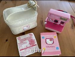 Hello Kitty Polaroid Instant Camera Pink from Japan Sanrio Bag&Manual&Album