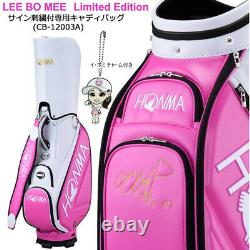 Honma Golf HONMA 9.5 type 4.2 kg Caddy bag CB-12003A white / pink From Japan