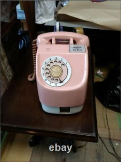 Japanese Public Phone 10 Yen Pink Telephone Payphone Vintage Retro From Japan