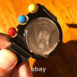 LIP MACH 2000 Mesh Brace Chronograph Men's Watch Black from Japan F/S