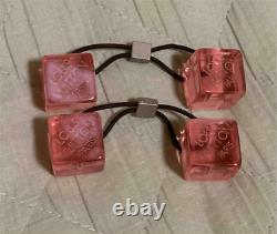 LOUIS VUITTON Hair Elastic Cube Pink Color with Case Accessory from Japan Used
