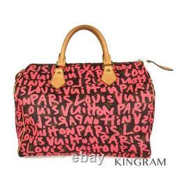LOUIS VUITTON Monogram Graffiti Speedy 30 M93704 Fuchsia handbag from Japan